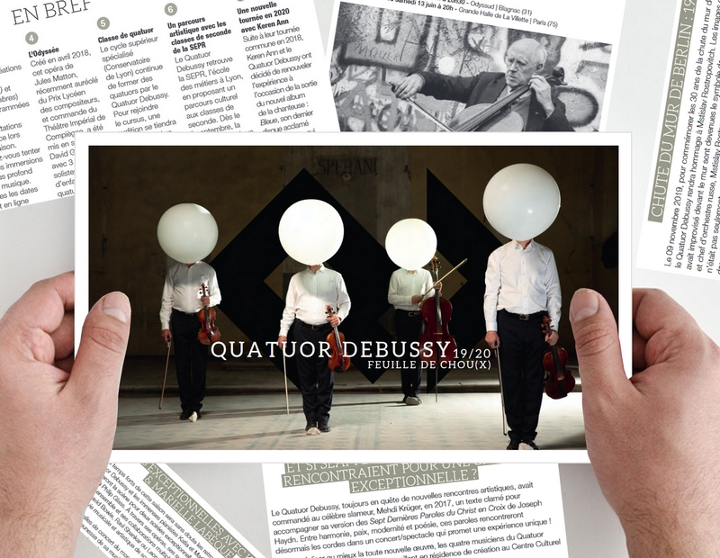 In french: The latest Debussy Quartet magazine available